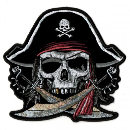 Patch Ecusson Velours Skull Samouraï - XXL