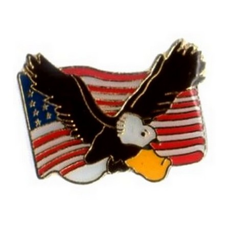 Pin's Biker Flying Eagle USA