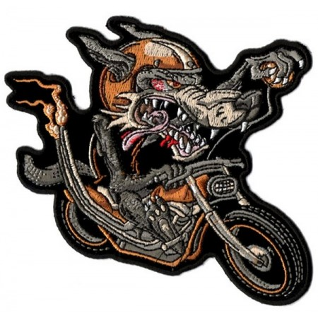 Patch Ecusson Biker Wolf Rider