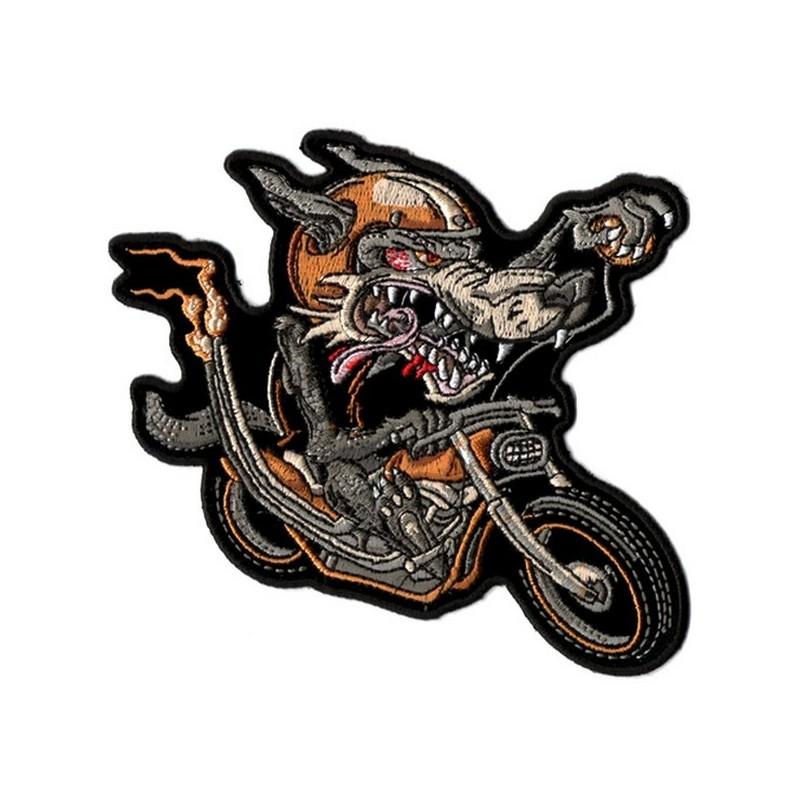 Patch Ecusson Biker Wolf Rider