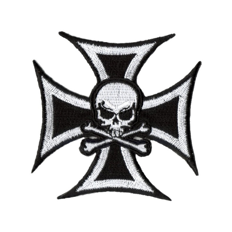 Patch Ecusson Skull Silver...