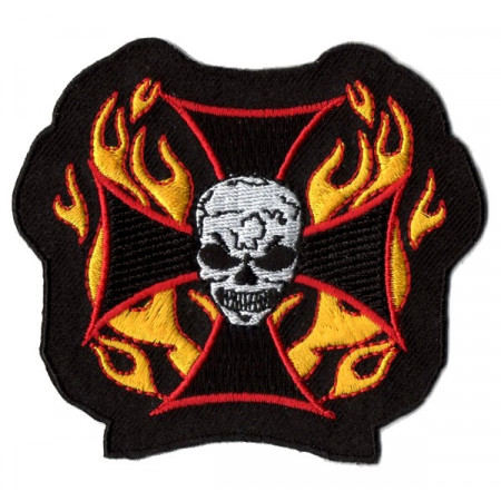 Patch Ecusson Skull Cross Fire