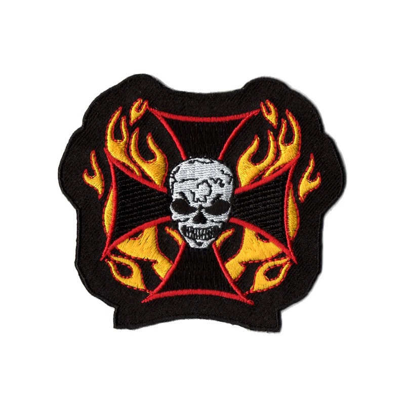 Patch Ecusson Skull Cross Fire