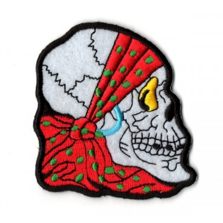 Patch Ecusson Skull Bandana