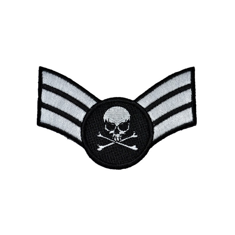 Patch Ecusson Silver Skull...