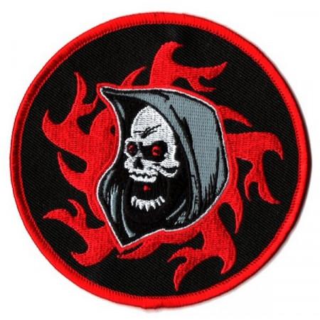 Patch Ecusson Skull Grim...