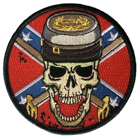 Patch Ecusson Skull Rebel