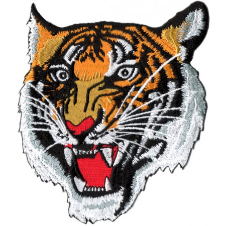 Patch Ecusson Tête De Tigre