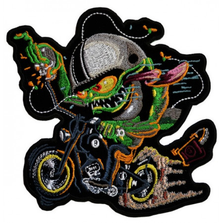 Patch Ecusson Biker Bull...