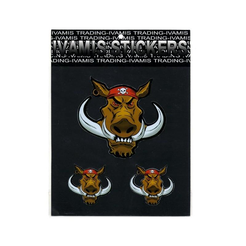 Sticker Hog Biker
