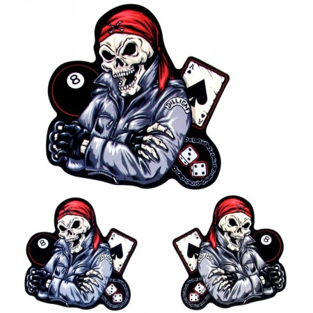 Patch Ecusson Silver Skull Army