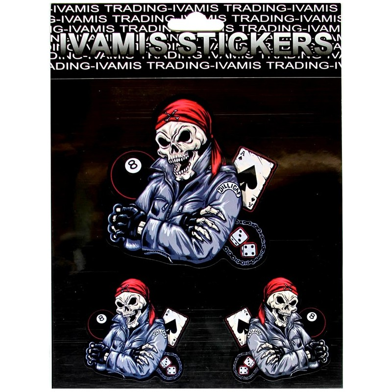Sticker Pirate Skull Gambling