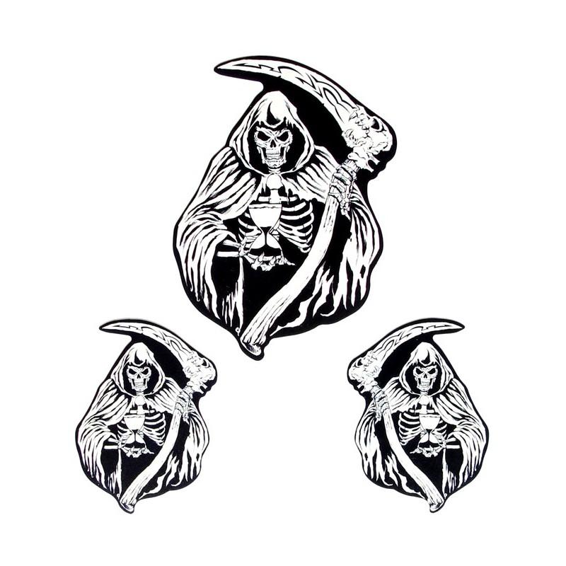 Sticker Silver Skull Reaper