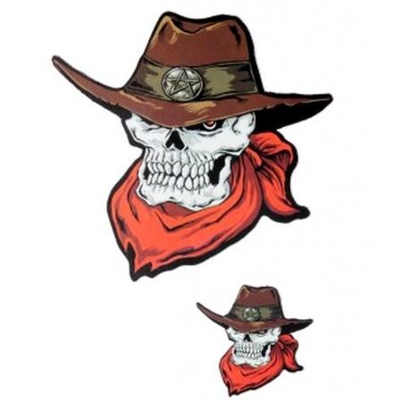 Sticker Skull Cowboy