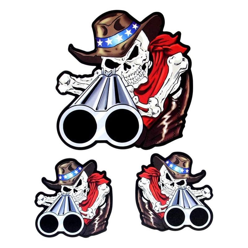 Sticker Shotgun Skull
