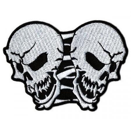Patch Ecusson Biker Skull Twin