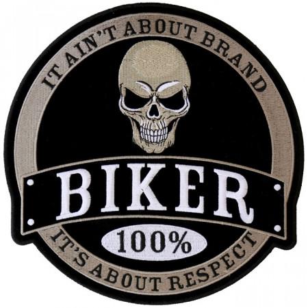 Patch Ecusson Biker 100 %...