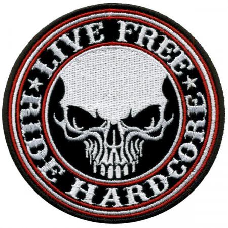 Patch Ecusson Live Free...