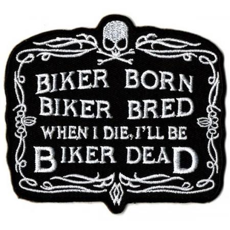 Patch Ecusson Biker Born...