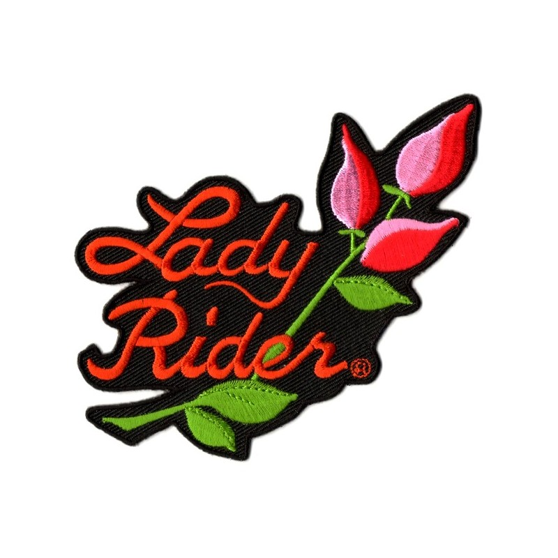 Patch Ecusson Lady Rider Roses