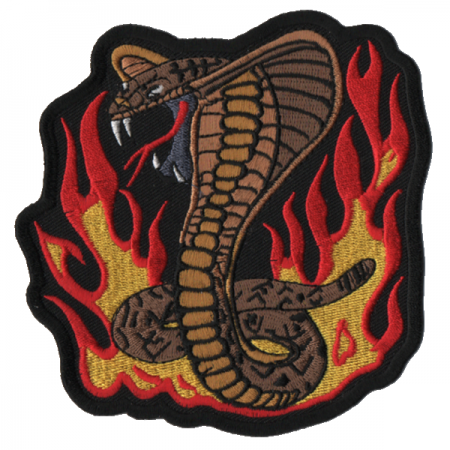 Patch Ecusson Biker Cobra Fire