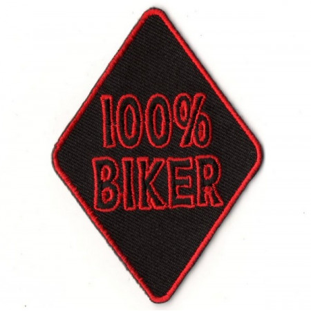 Patch Ecusson Velours 100 % Biker Skull Respect XXL