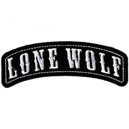 Patch Ecusson Biker Lone Wolf